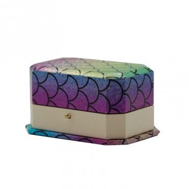 Double Ring   Box  (Rainbow/khaki,RBA/SUEDE)