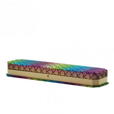 Bracelet   Box  (Rainbow/khaki,RBA/SUEDE)